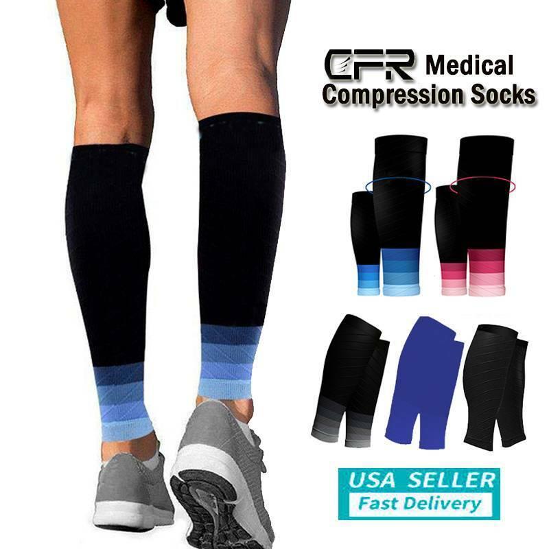Calf Sleeves Compression Socks Shin Splint Leg Brace Running