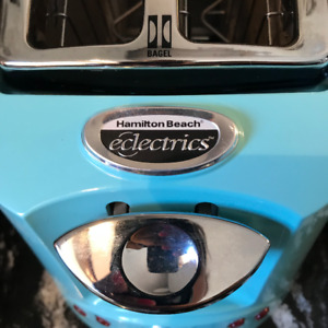 Hamilton Beach Eclectrics All-Metal 2-Slice Toaster in Sea Breez