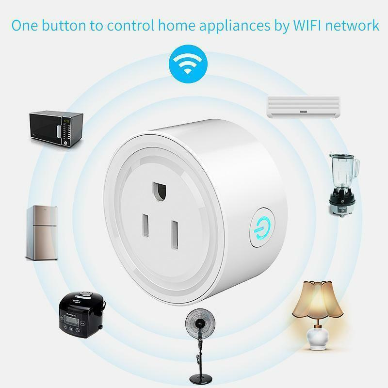 Mini Smart Plug Outlet Wifi Socket Amazon Alexa Google Assistant Voice Control