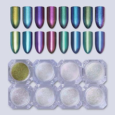 1g Shiny Chameleon Mirror Powder Manicure Nail Art Chrome Pigment Glitters