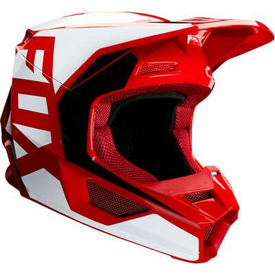 2020 Fox Racing YOUTH V1 Prix MX Motocross Off Road Helmet White Red