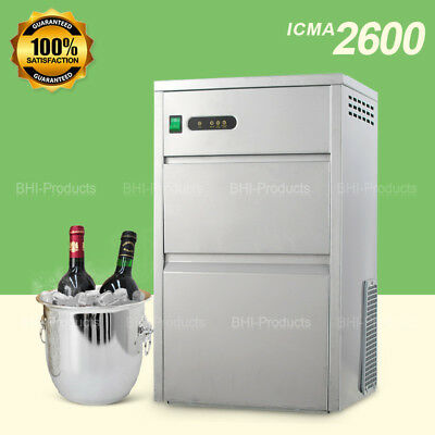 Home Commercial Ice Maker Countertop 60lbsday Stainless Steel Machine Kitchen