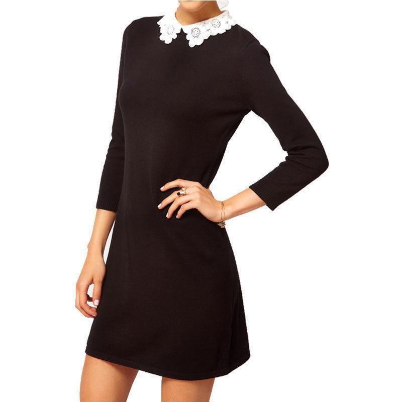 Formal and vintage peter pan collar dress, which is a perfect work Melynnco Womens 3/4 Sleeve Casual Dress Wear To Work With Peter Pan Collar For Party. by Melynnco. $ $ 23 99 Prime. FREE Shipping on eligible orders. Some sizes/colors are Prime eligible. out of 5 stars