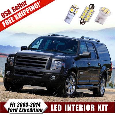 18X White LED Interior Light Bulb Package Deal Kit For 2003-2014 Ford -