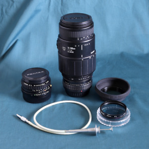Film Camera Lenses - Sigma 70-300 mm and Pentax-A 50 mm