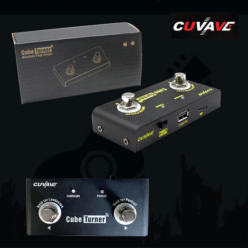 CUVAVE Cube Turner Effect Pedal Bluetooth Page Turner For Smartphone