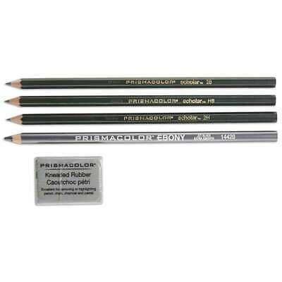 Prismacolor Scholar Graphite Pencil Set, 4B, 2B, HB, 2H Penc