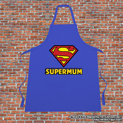 """""""Supermum"""" Cooking Apron Gift Fathers Day Mothers Day Funny Superhero Parody"""