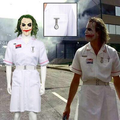 Joker Nurse White Uniform Batman Fancy Dress Costumes Dress Cosplay for Party - Joker Nurse