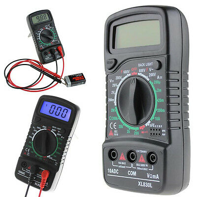 Lcd Digital Multimeter W Ammeter Acdc Voltage Tester Current Resistance Tester