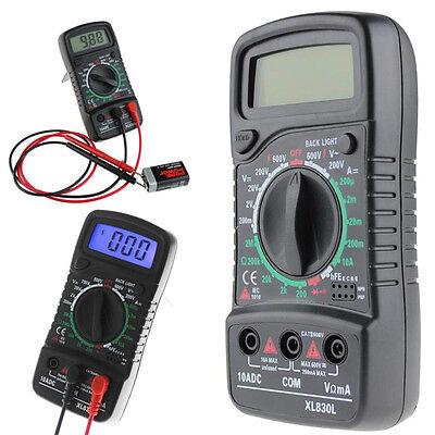 Lcd Digital Acdc Voltmeter Volt Resistance Multimeter Ohm Current Tester Meter