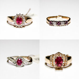 Ruby & Diamond Rings $200+up & over 1000 rings for sale