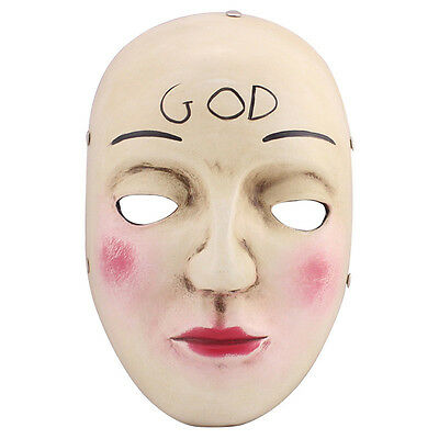 THE PURGE 2 COSTUME HORROR FANCY DRESS MASK ADULT COSPLAY ANARCHY RESIN GOD](Purge 2 Masks)