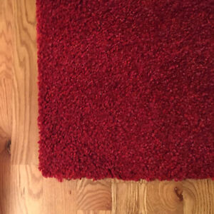Red pile high rug approx 5' x 2.5'