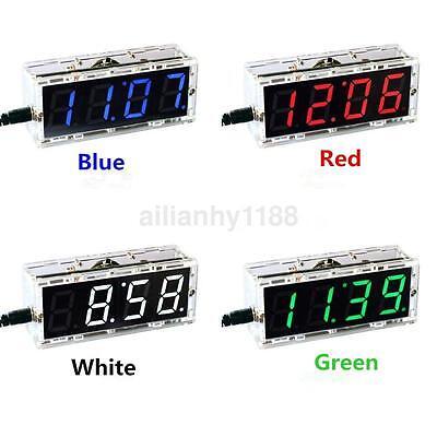 CA Electronic 4-digit DIY Digital LED Clock Kit Light Control Temperature Hot