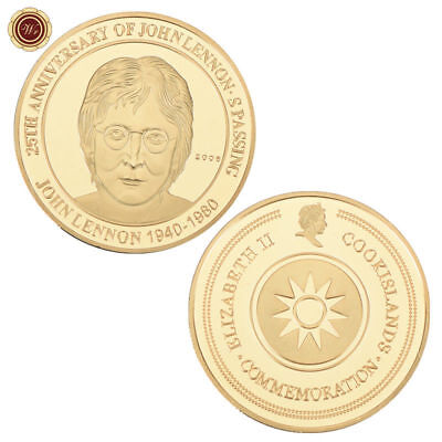 WR 25th Anniversary of John Lennon's Passing Commemorative Gold Coin Fans Gift