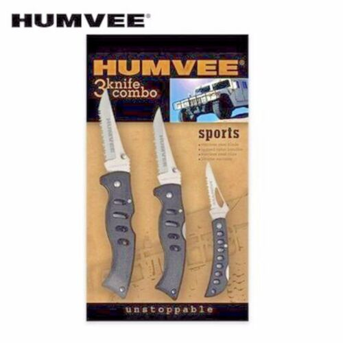 Humvee pocket knife Set with 3 knives Free Shipping in USA