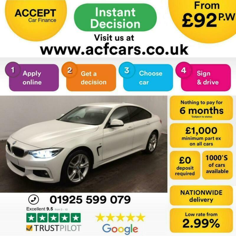 2017 WHITE BMW 435D GRAN COUPE 3 0 XDRIVE M SPORT DIESEL CAR FINANCE FR £92  PW   in Warrington, Cheshire   Gumtree