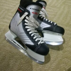 Slightly Used Sharpened Mens Hockey Skates - Size 11