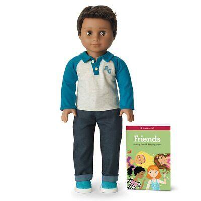 American Girl Size 18 Truly Me Doll Boy Brown Hair Dark Skin  #76 New In Box