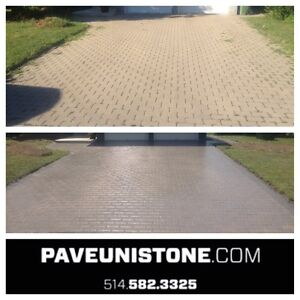 PAVE_UNI STONE - PAVER CLEANING & SANDING -RE-LEVELLING West Island Greater Montréal image 3