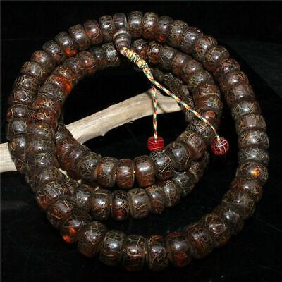 18mm Timor Eaglewood Agarwood Mala Prayer Beads Tiger Skin Pattern