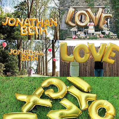 Party  Alphabet Letter Foil Baloons 16inch Custom Shaped Aluminum Balloon
