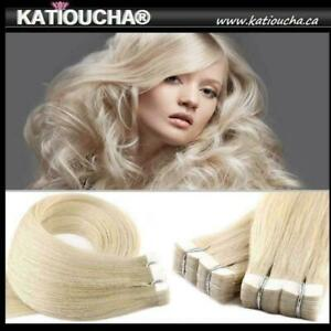 Tape In Hair Extensions | 100% Human Remy Hair ***** Rallonges Bandes Adhésives 100% Cheveux Humain Rémy