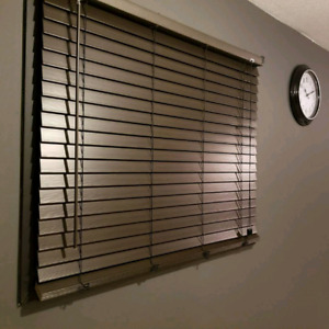 Designer 2in faux wood blinds. 47x48in