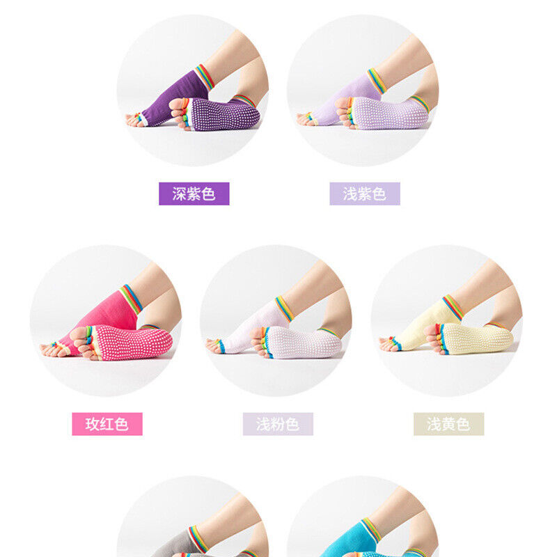 Fashion Anti-skid 5 Toe Socks Yoga Socks Non-slip Sport Sili