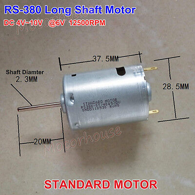 Dc5v9v 6v 12500rpm High Speed Carbon Brush Rs-380 Motor 20mm Long Shaft Toy Car