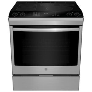 30'' GE Induction range, stainless