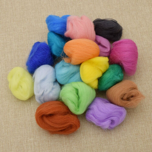 как выглядит Другое Set of 36 Colours Wool Fibre Needle Felting Needlecrafts Decoration Handmade DIY фото
