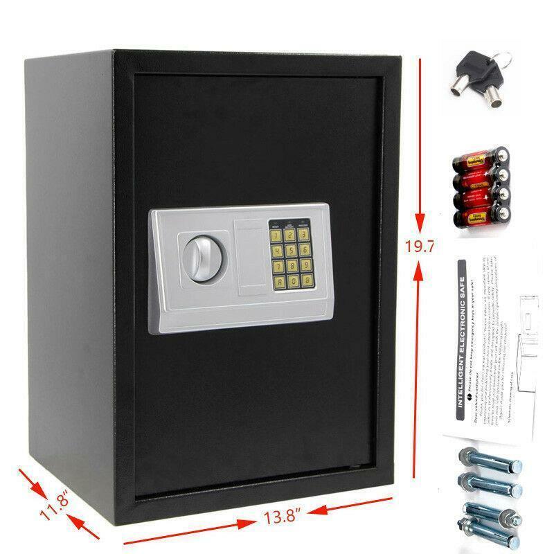 Digital Electronic Safe Box Large Security Home Office Hotel Gun Keypad Lock