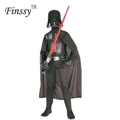 Star Wars Darth Vader Costume Kids Jumpsuit Black Suit Cape Mask Boys Cosplay (Darth Vader Jumpsuit)