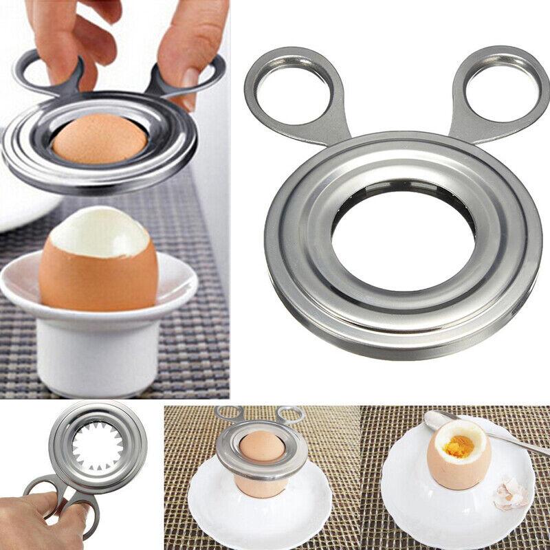 Stainless Steel Boiled Egg Shell Opener Topper Cutter Remove