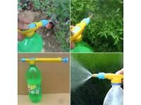 Turn any bottle into spray gun