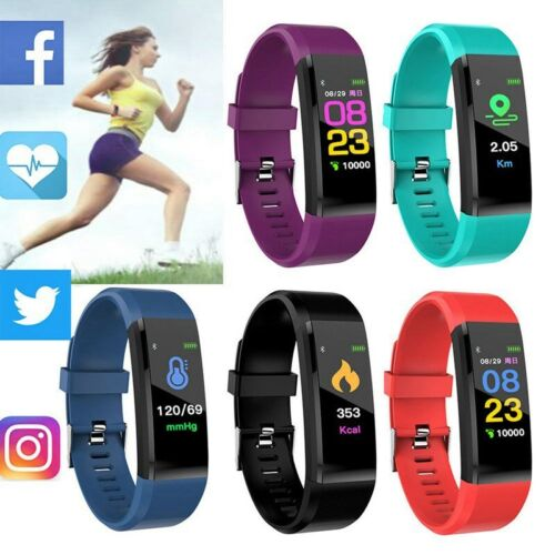Sports Fitness Tracker Blood pressure Heart Rate Monitor Sma