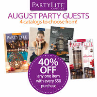 PartyLite - Four Catalogues and New August Customer Deals