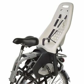 BIKE CHILD REAR SEAT AND SEAT POST, YEPP MAXI, GREY 9 Months - 6 Years or 22KG