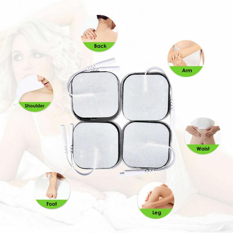 10//20/100 TENS Elektroden Pads 50x50mm mit 2mm Stecker für Massager EMS Gerät