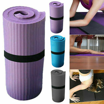 UK Yoga Auxiliary Mat 15mm Extra Thick Gym Exercise Non Slip Pilates Fitness NBR