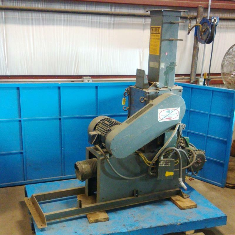 HYDRECLAIM CORP. HBD HIGH BULK DENSITY 10HP GRANULATOR GRINDER *PZB*