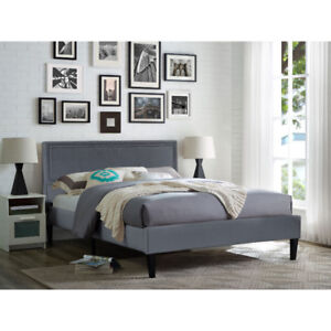 Kaylee Transitional Upholstered Bed - King - Grey Brand new in B