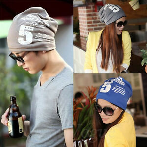 Winter-Women-Men-Unisex-Note-Five-Hip-hop-Baggy-Beanie-Cotton-Blend-Hats-Cap-137