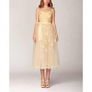 Yellow Lace Cocktail Dress for RENT Size Medium