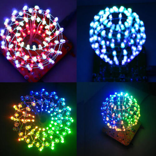 LED Light Cube Cubic Ball Creative Electronic DIY Kit Remote Control For Decor