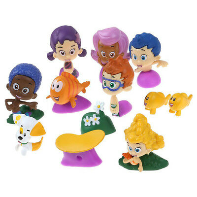 12pcs Figure Bubble Guppies Toy Cake Topper GIL Molly Nonny Deema Oona Goby New (Bubble Guppie Toys)