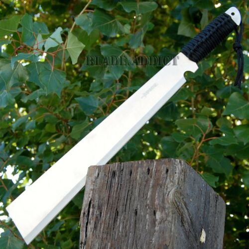 """20"""" SURVIVAL HUNTING Bowie Military FULL TANG MACHETE Fixed Blade Knife SWORD"""