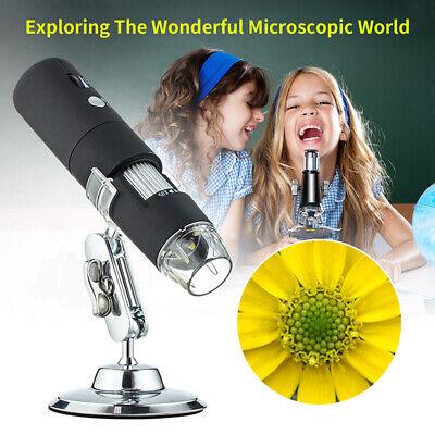 1080p Hd 8 Led Wifi Usb Digital Microscope Camera Metal Stand Compatible Ios